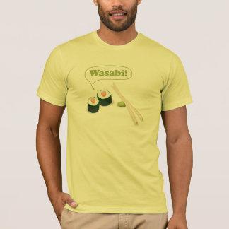 Camiseta sushi e wasabi