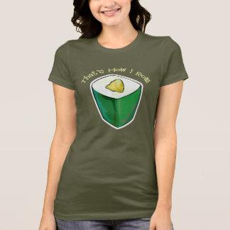 Camiseta Sushi que é como eu rolo o t-shirt do rolo de