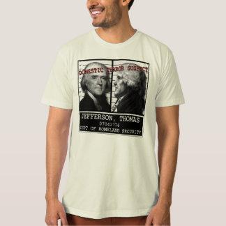 Camiseta Suspeito de terror da segurança interna de