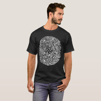 Camiseta Swirly Twisty (branco)