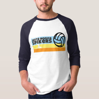 Camiseta T 1976 do Raglan dos Spikers de Santa Monica do