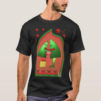 Camiseta T 3 do beijo do Xmas por Anjo LAfin