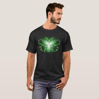 Camiseta T abstrato verde do design