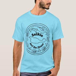 Camiseta T actualizado com parte traseira da equipe sobre