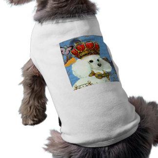 Camiseta T adorável do animal de estimação com caniche e a