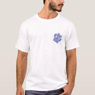 Camiseta T ADULTO do branco dos SS da pata de Chevron