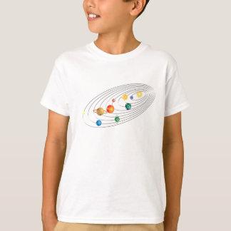 Camiseta T adulto do espaço do sistema solar