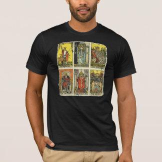 Camiseta T afligido vintage de Tarot: Primeiro major seis