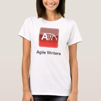 Camiseta T ágil do escritor das mulheres