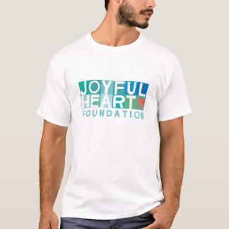 Camiseta T alegre do coração dos homens
