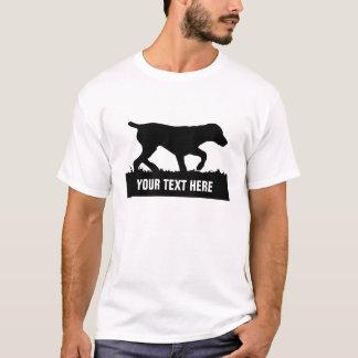 Camiseta T alemão customizável do ponteiro de cabelos