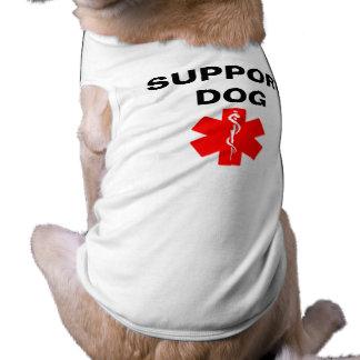 Camiseta T alerta médico da camisola de alças do cão do