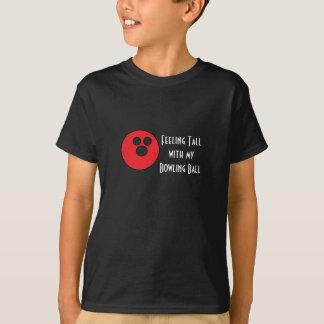 Camiseta T alto dos miúdos da bola de boliche