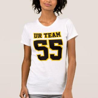 Camiseta T americano de 2 mulheres do roupa do OURO PRETO