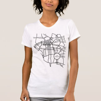 Camiseta T americano do mapa do LA do roupa das mulheres