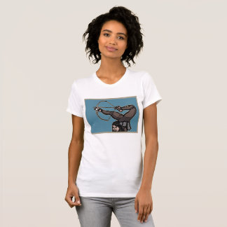Camiseta T americano do roupa do arqueiro asiático central