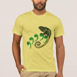 Camiseta T americano do roupa do limão do camaleão da