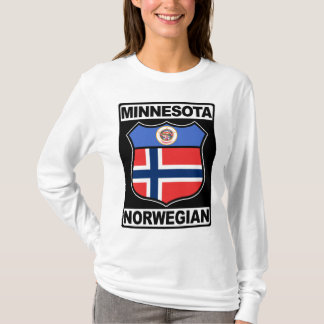Camiseta T americano norueguês de Minnesota