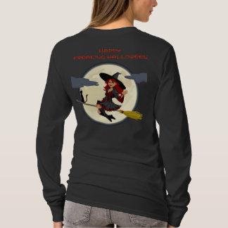 Camiseta T amigável Freaking feliz do cheio da bruxa do Dia
