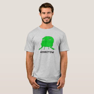Camiseta T animal da chalaça do sapo de Ribbiting