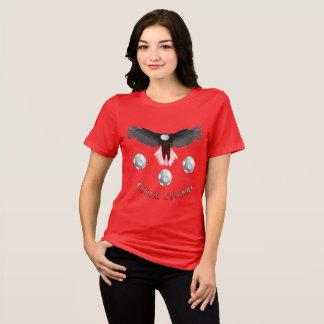 Camiseta T apto relaxado de Eagle do futebol senhoras