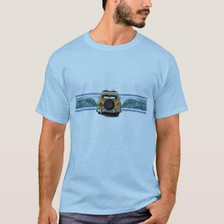Camiseta T arborizado dos homens da onda