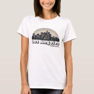 Camiseta T artística das senhoras da skyline de Los Angeles