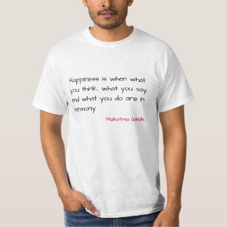 "Camiseta T ascendente sábio - ""felicidade """