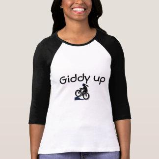 Camiseta T ascendente vertiginoso da menina
