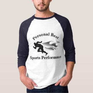 Camiseta T atlético dos melhores esportes pessoais