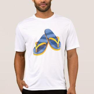 Camiseta T azul do Active dos homens das sandálias