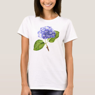 Camiseta T azul do Hydrangea