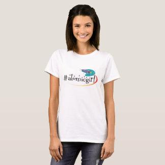 Camiseta T básico da menina atômica por lovedidis