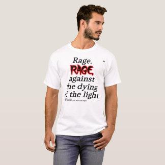 Camiseta T básico das citações de Dylan Thomas dos homens