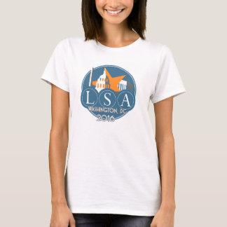 Camiseta T básico do grande logotipo de 2016 mulheres da