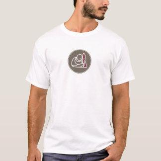 Camiseta T básico do ícone milenar de Buddha