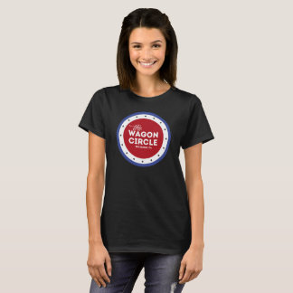 Camiseta T básico do WC das mulheres (preto)
