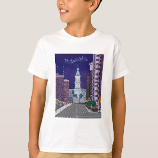 Camiseta T básico dos miúdos acesos da cidade