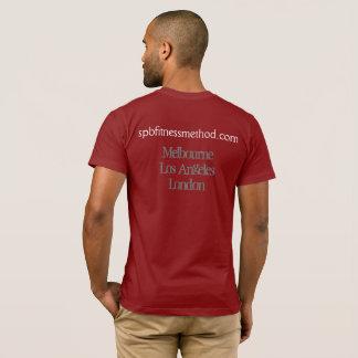 Camiseta T básico vermelho do #WellnessWarrior dos homens
