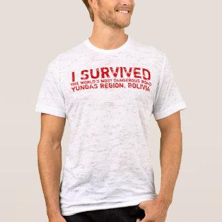 Camiseta T boliviano dos sobreviventes da estrada da morte
