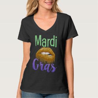 Camiseta T bonito do brilho do t-shirt das mulheres do