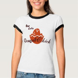 Camiseta T bonito do pintinho do evangelho