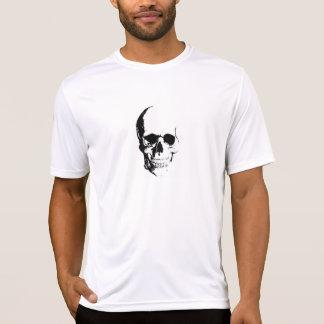 Camiseta T branco com crânio & V-4
