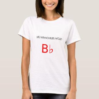 """Camiseta T branco com logotipo vermelho do """"Bb"""" (plano)"""