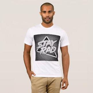 Camiseta T branco do Rad da estada dos homens