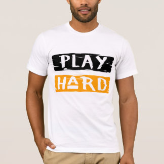 Camiseta T branco duro do jogo
