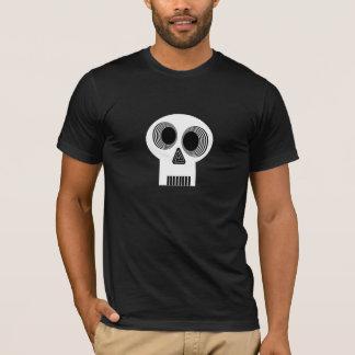 Camiseta T branco Hypnotized do crânio