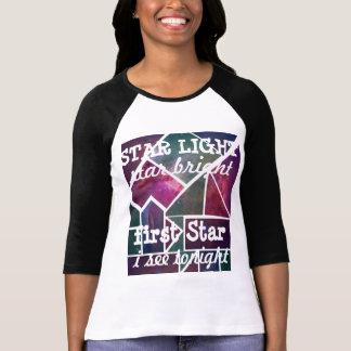 Camiseta T brilhante do gráfico do impressão da galáxia da