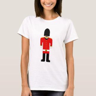 Camiseta T britânico das senhoras do soldado
