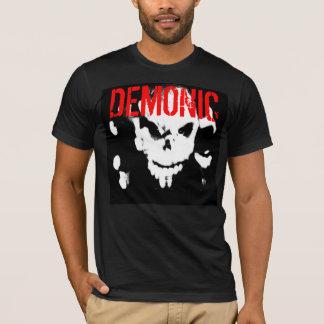 Camiseta T cabido demoníaco dos homens - personalizado -